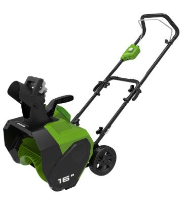 Greenworks 16 Inch 40 V Cordless Snow Thrower Battery And Charger