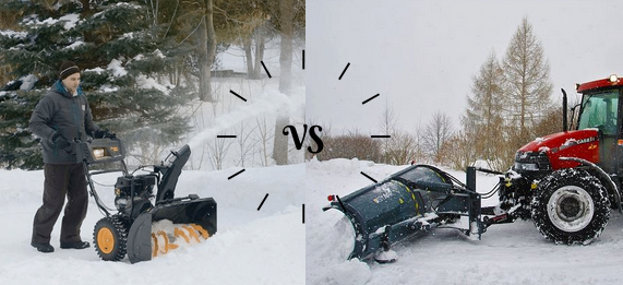 Snow blower vs plow